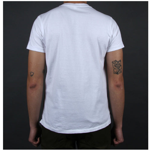 015a0f866abfd Engineered Garments PRINTED CROSS CREW NECK T-SHIRT White Nomad – Bodega