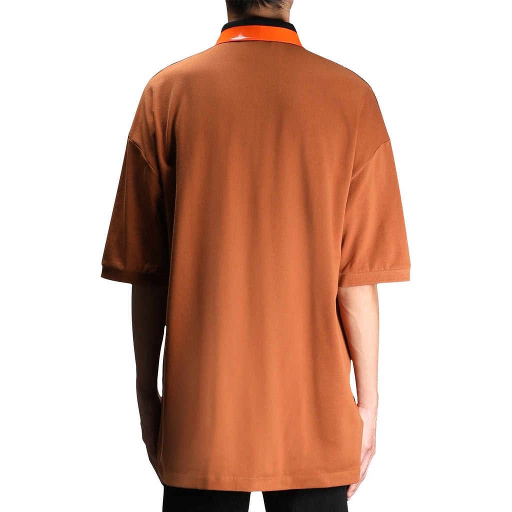 Fred Perry x RAF SIMONS OVERSIZED PIQUE SHIRT (Caramel Cafe)