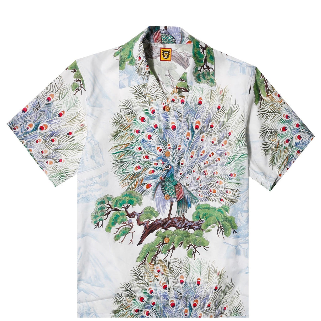Human Made PEACOCK ALOHA SHIRT White