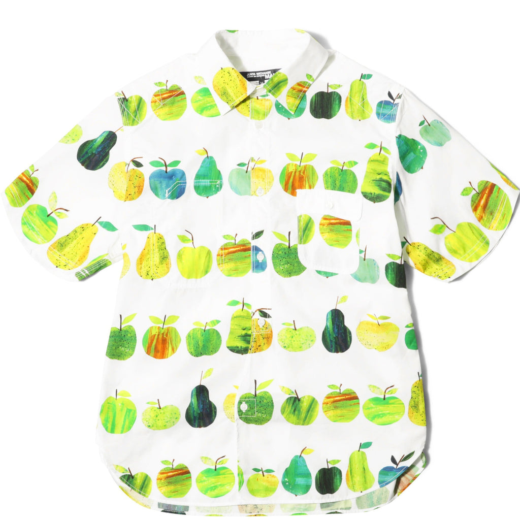 COTTON APPLE PRINT S/S SHIRT White/Green