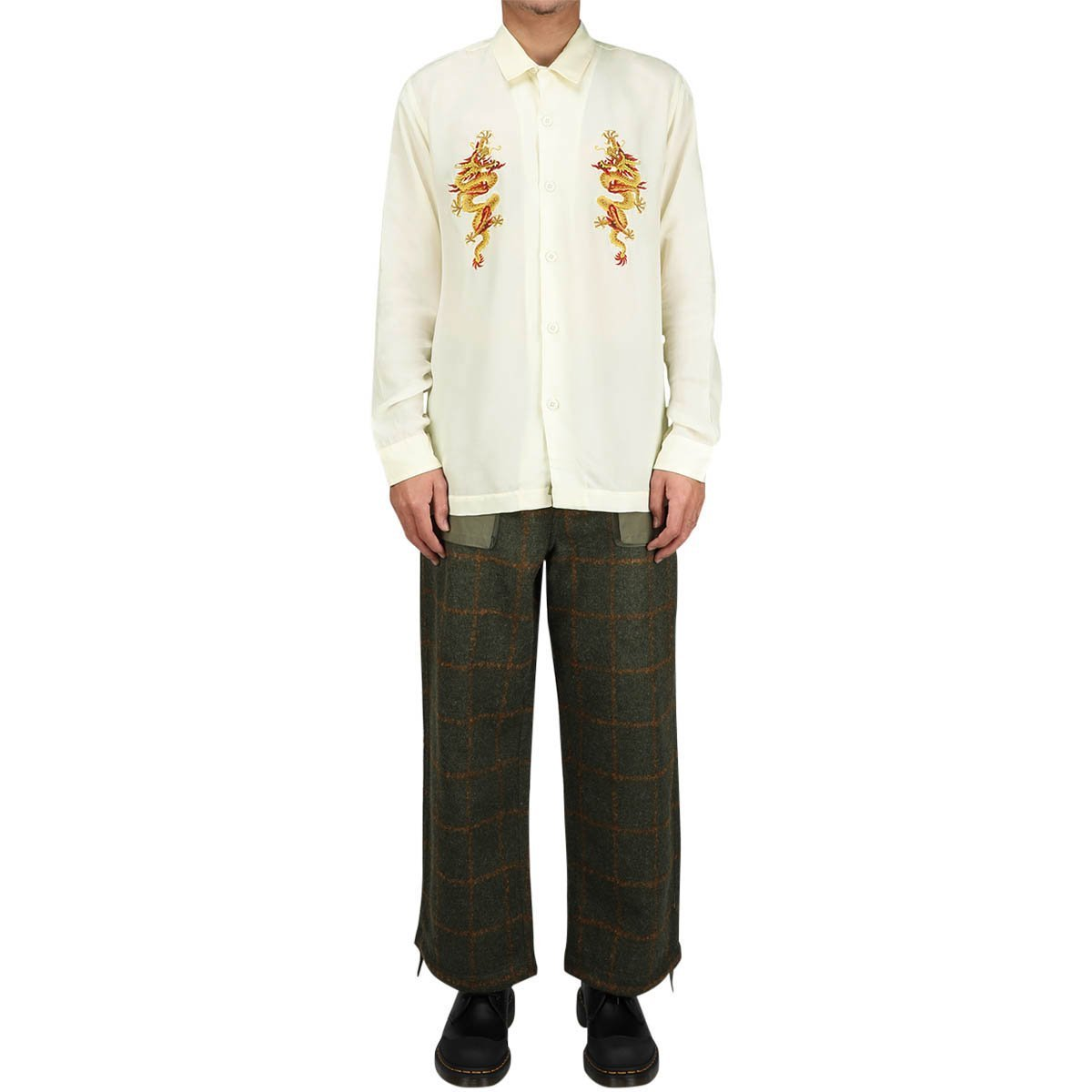 Maharishi Shirts GOLDEN SUN DRAGON SILK SHIRT