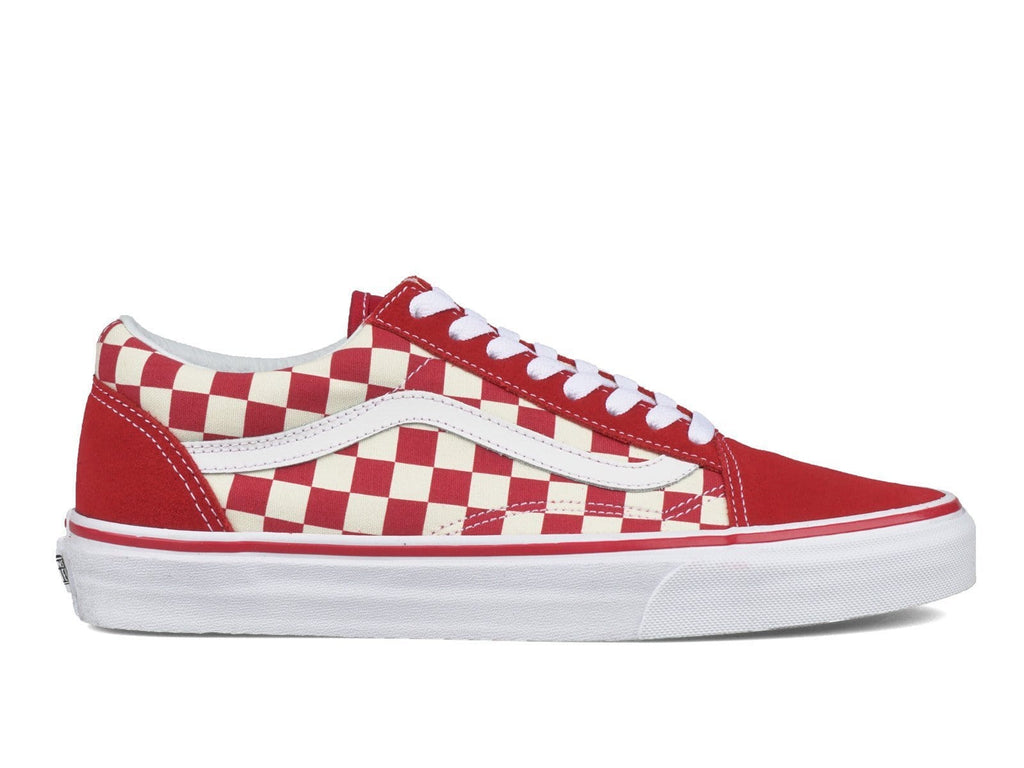 vans old school red