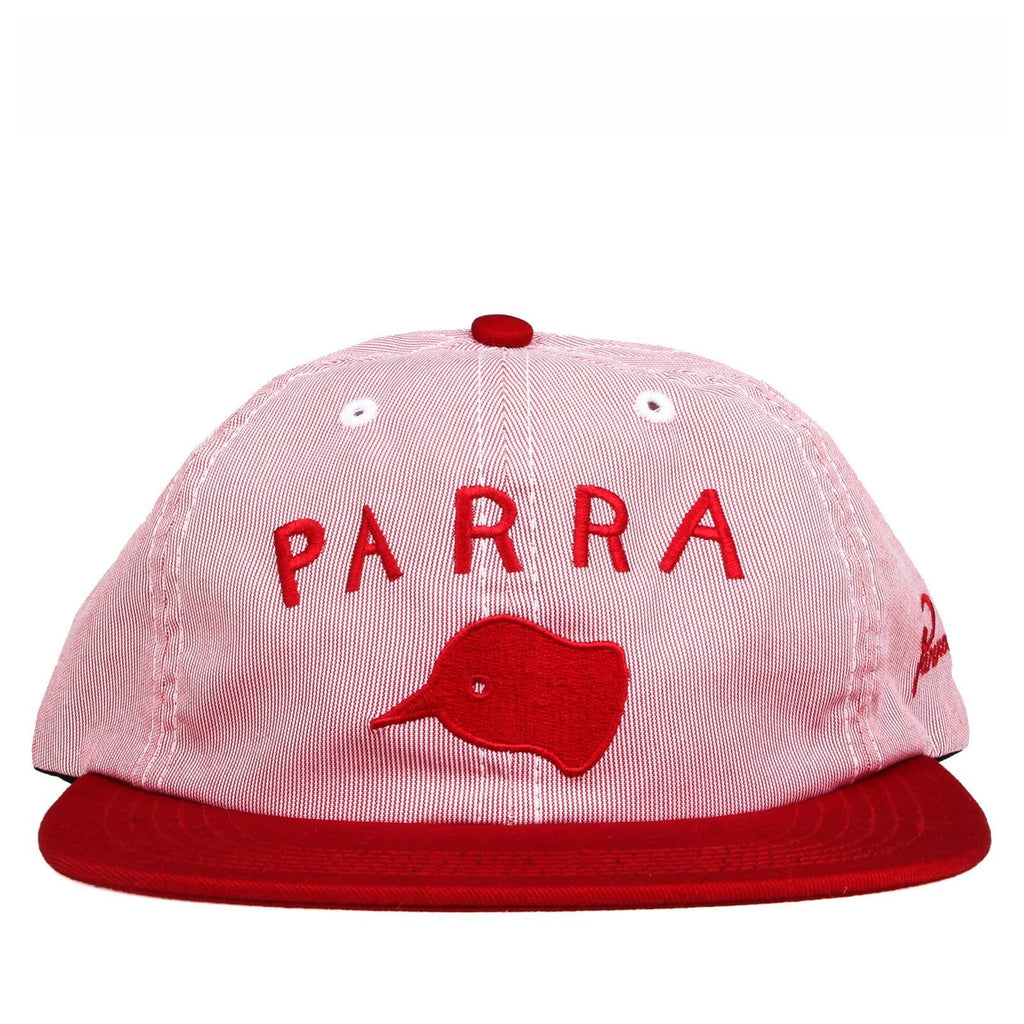 Rockwell By Parra 6 PANEL HAT BEAK KNOB Red Pincord
