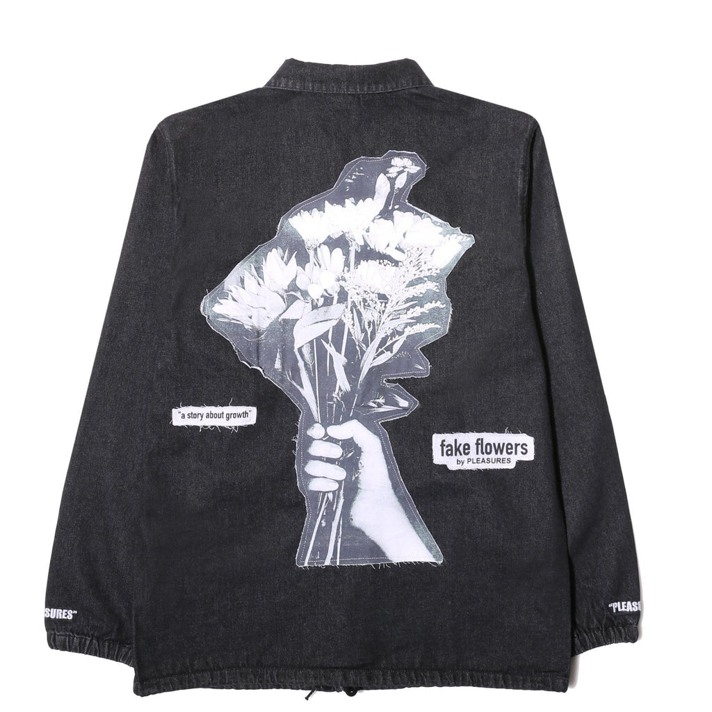 Pleasures Outerwear FAKE FLOWERS DENIM COACH JACKET