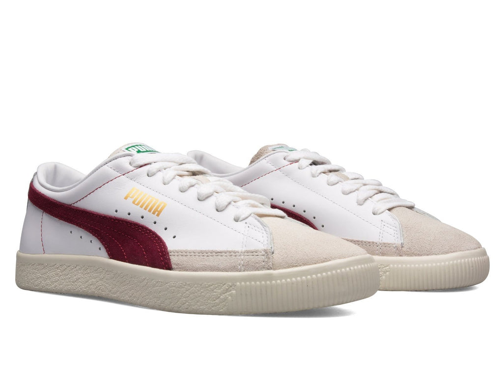 PUMA BASKET 90680 WHITE/POMEGRANATE/GOLD