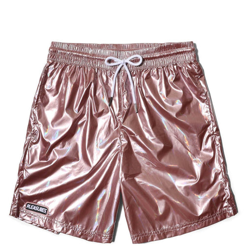 Pleasures LIQUID METALLIC SHORTS Pink