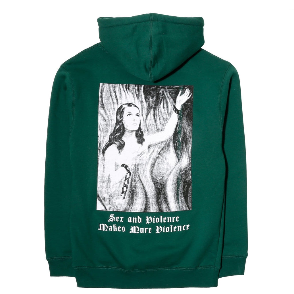 PLEASURES VIOLENCE HOODY DARK GREEN