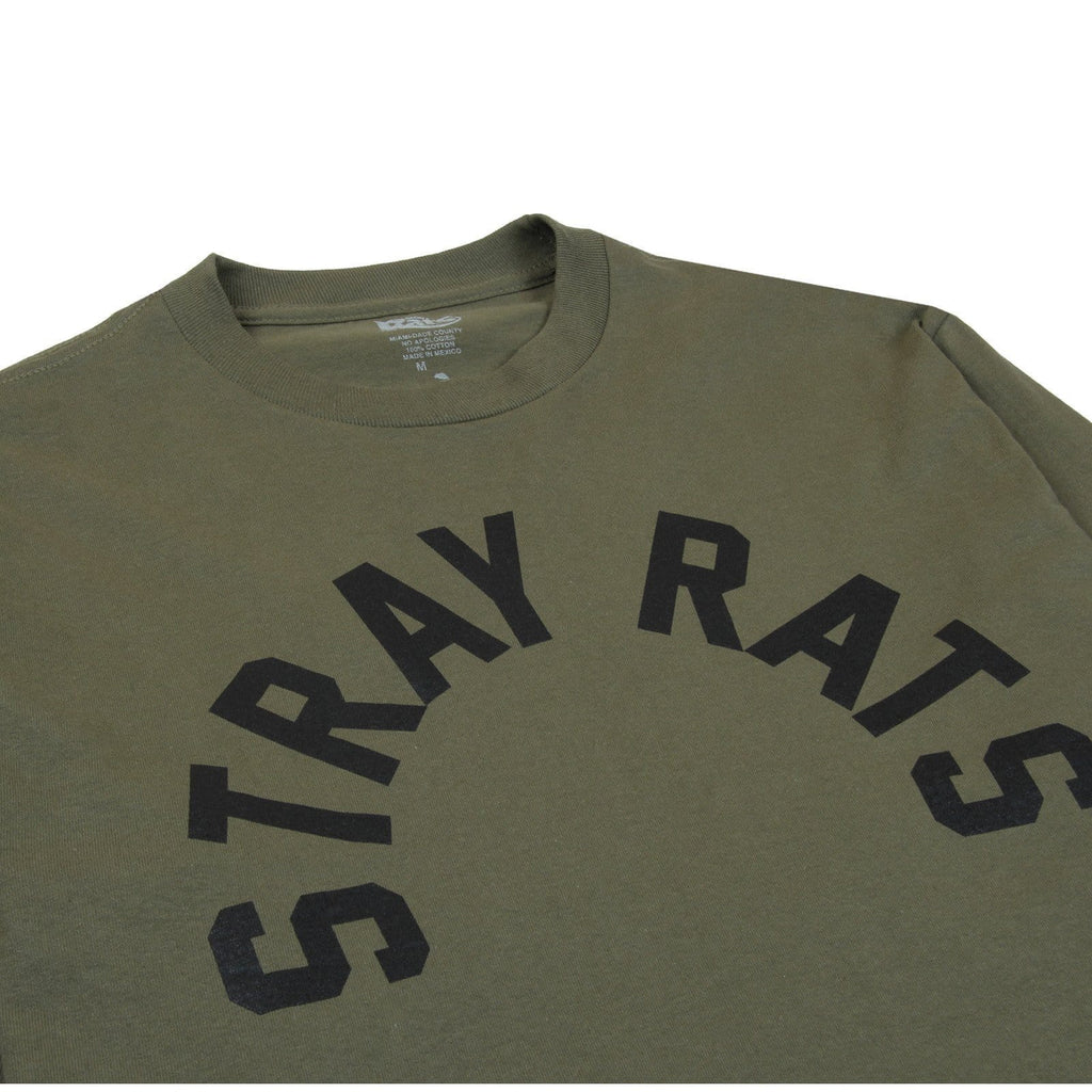 Stray Rats ARCH LONG SLEEVE Olive Green