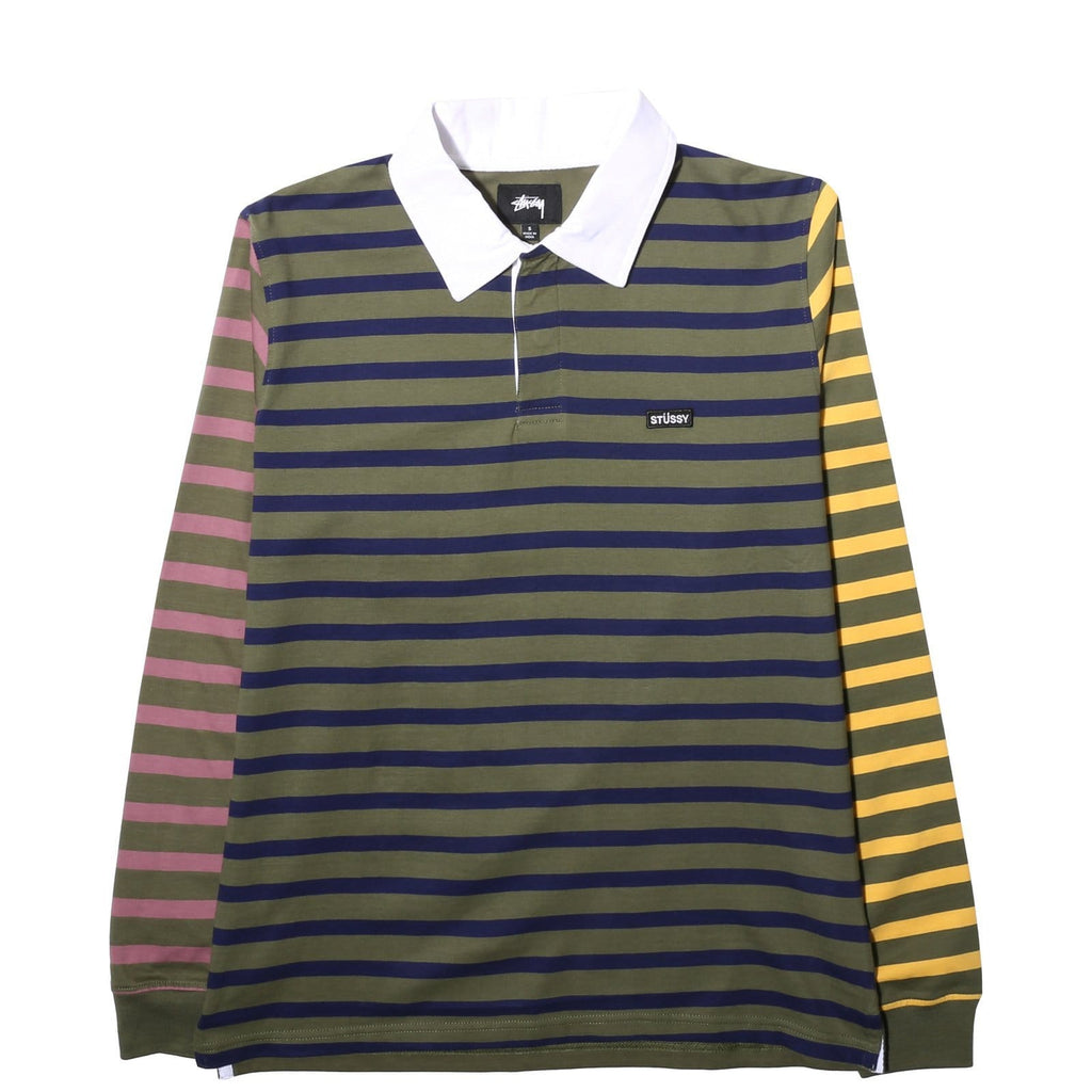 Stussy MENS APPAREL - Mens LS Tees JONAH STRIPE LS RUGBY