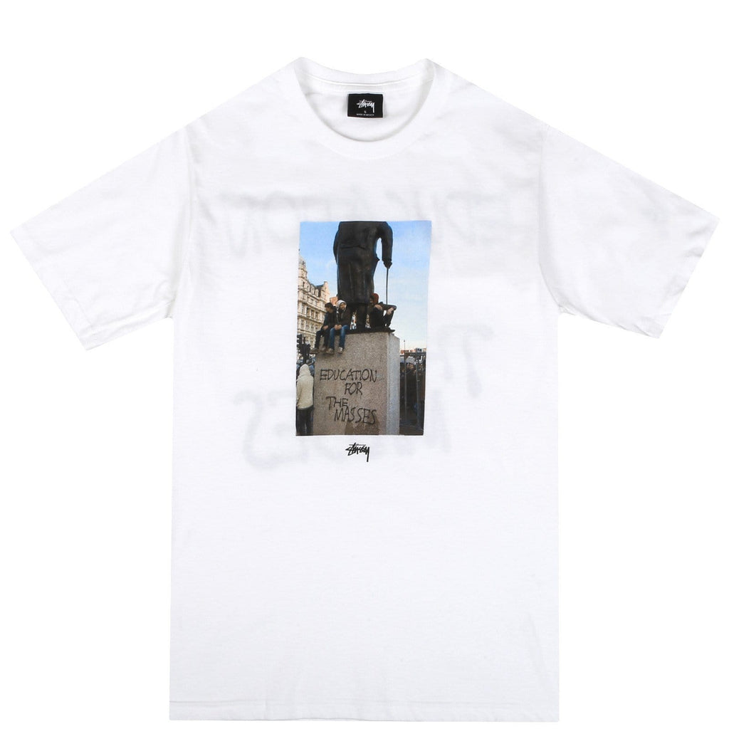 Stussy FOR THE MASSES TEE White