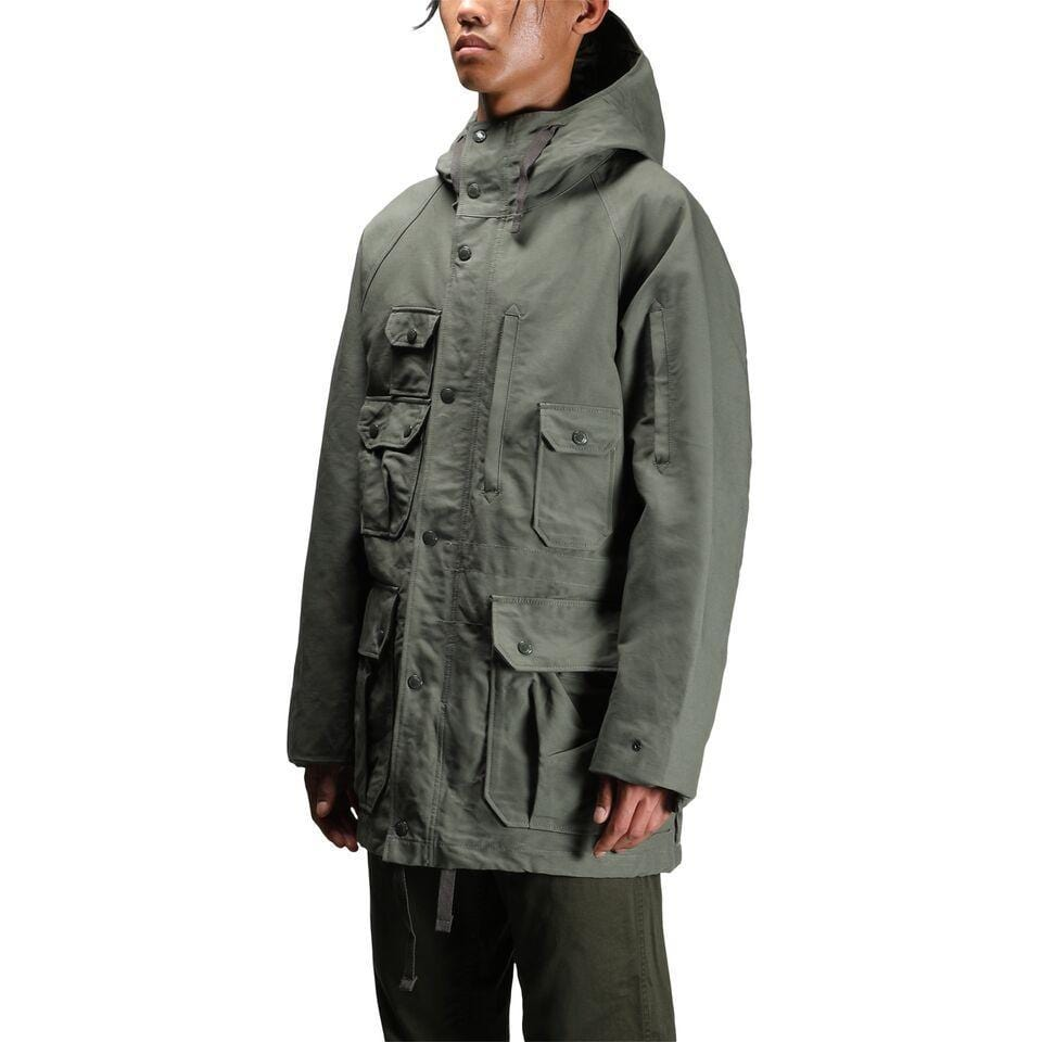 Engineered Garments FIELD PARKA Olive Cotton Double Cloth