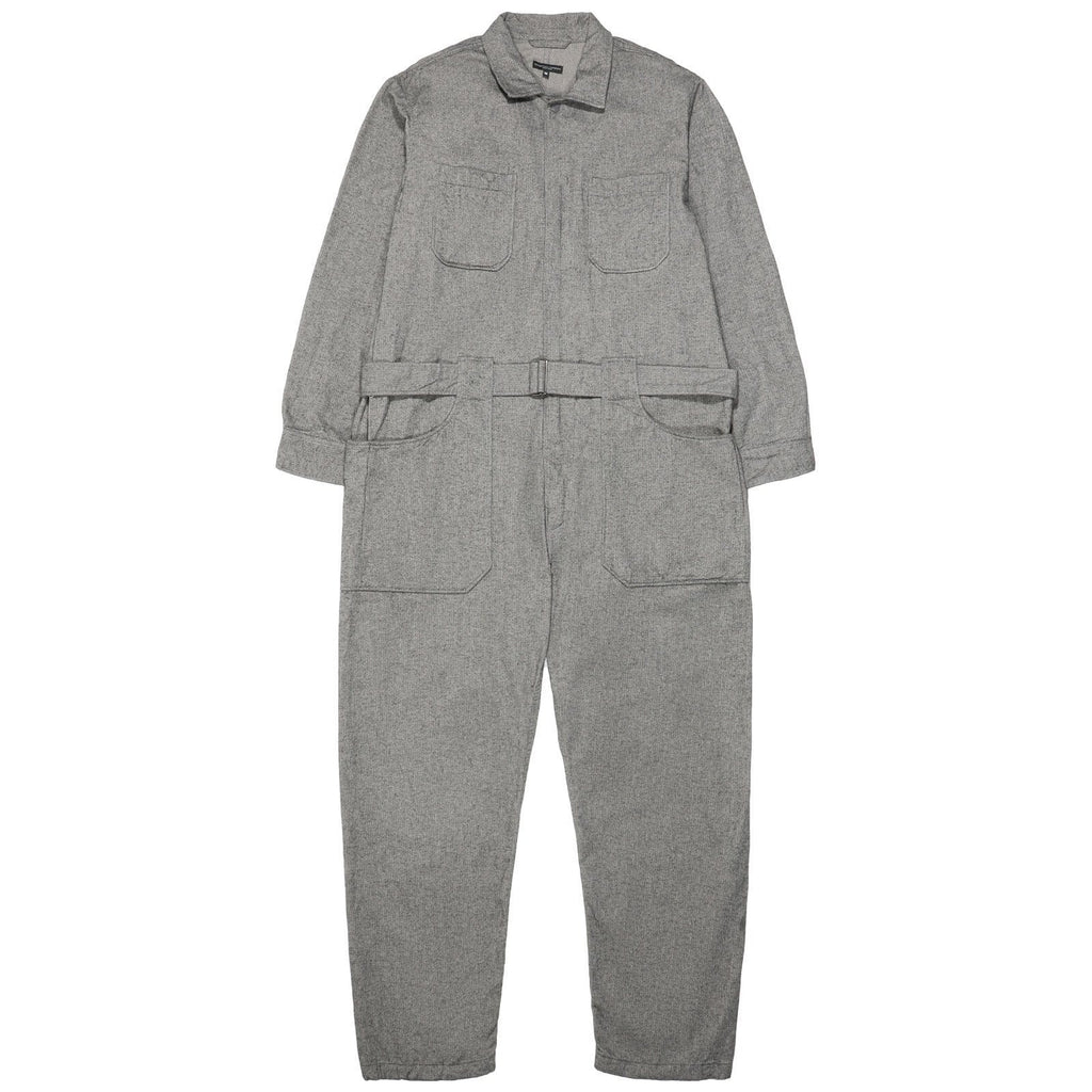 Engineered Garments COVERALLS Grey Brushed Herringbone