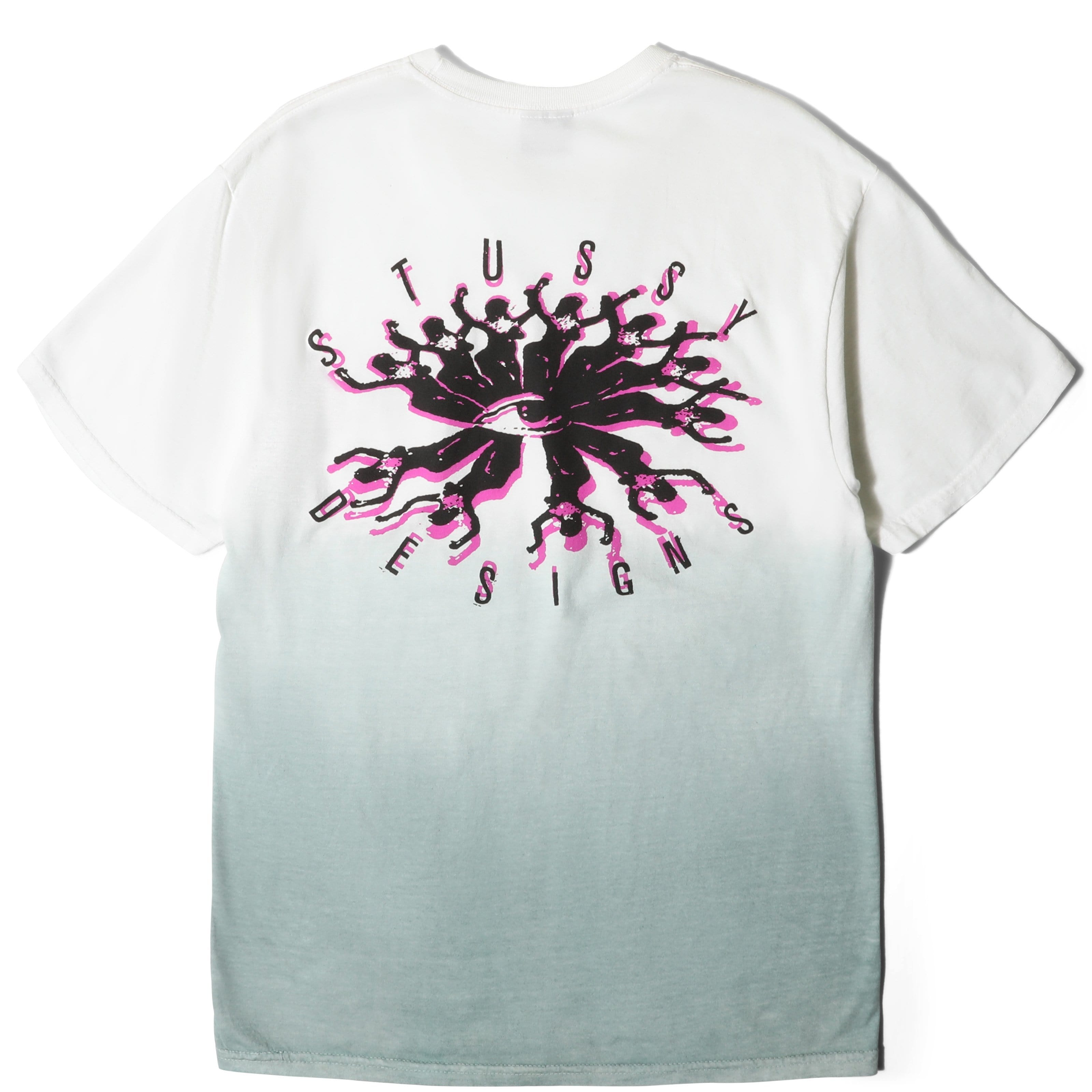 Stussy T-Shirts PEOPLE TRIBE DIP DYED TEE