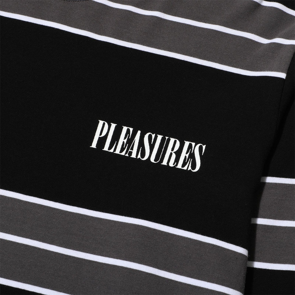 Pleasures SPIRIT STRIPE LS T-SHIRT Black