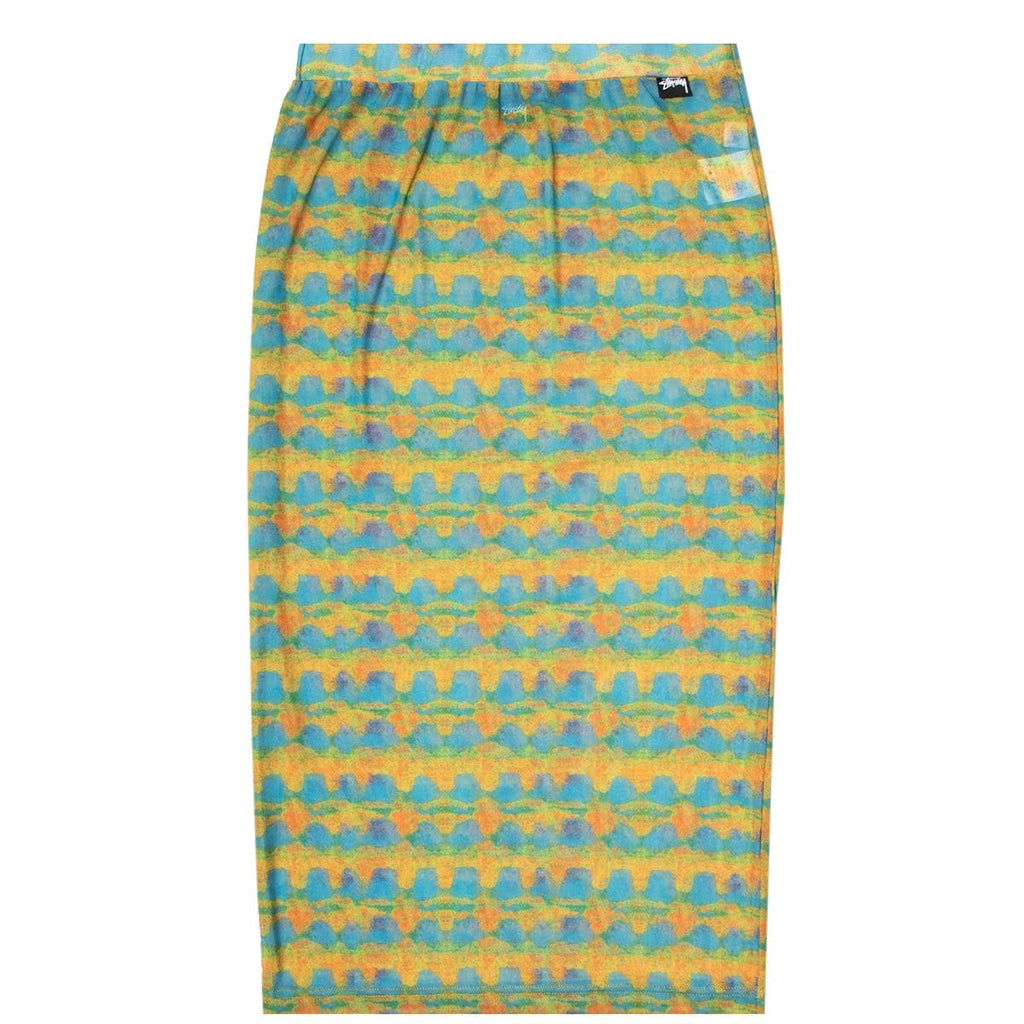 Stüssy Bottoms WOMEN'S PRINTED PLAID MESH TUBE SKIRT
