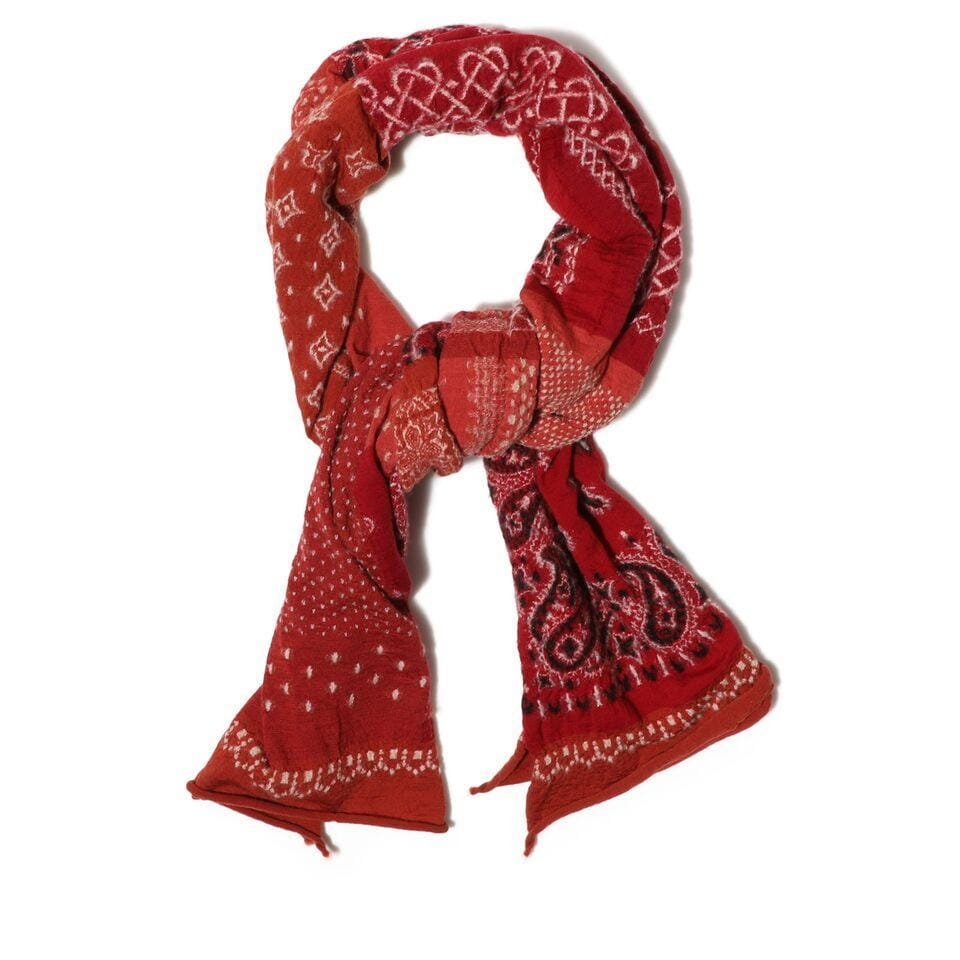 Kapital COMPRESSED WOOL SCARF (Red)