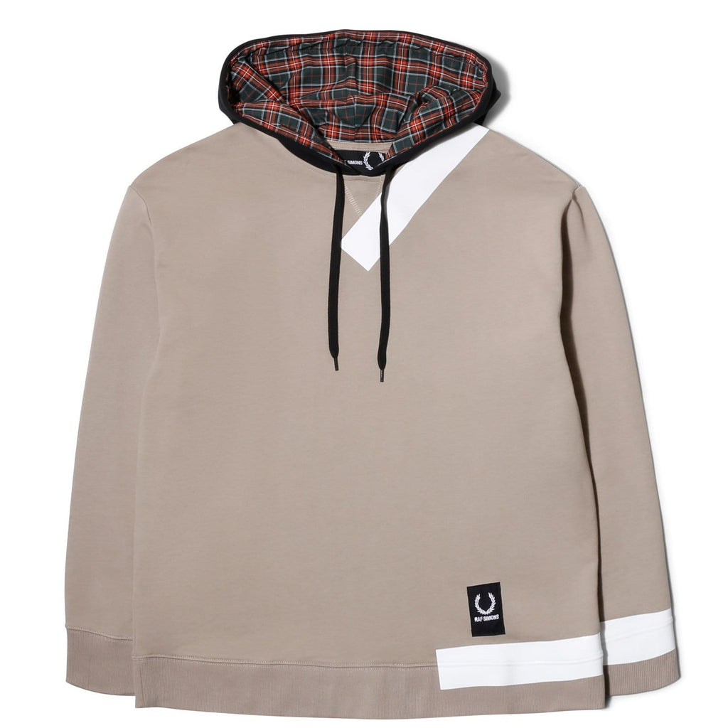 Raf Simons x Fred Perry TAPE DETAIL HOODED SWEATSHIRT Grey