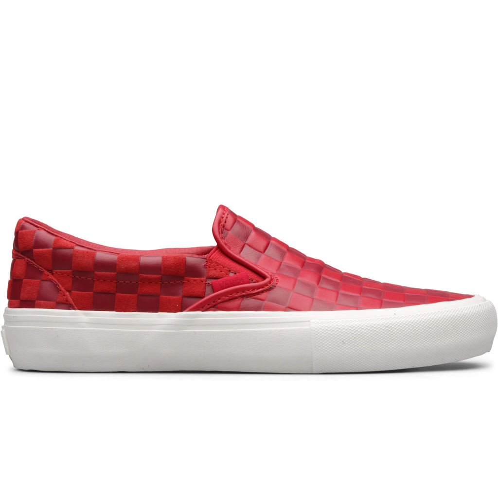 Vault by Vans x Engineered Garments CLASSIC SLIP-ON LX Red Embossed