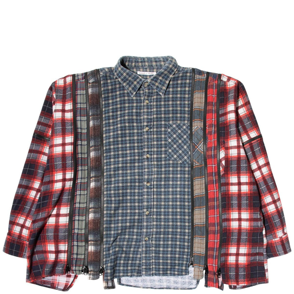 Needles Shirts ASSORTED / O/S 7 CUTS ZIPPED WIDE FLANNEL SHIRT SS21 13