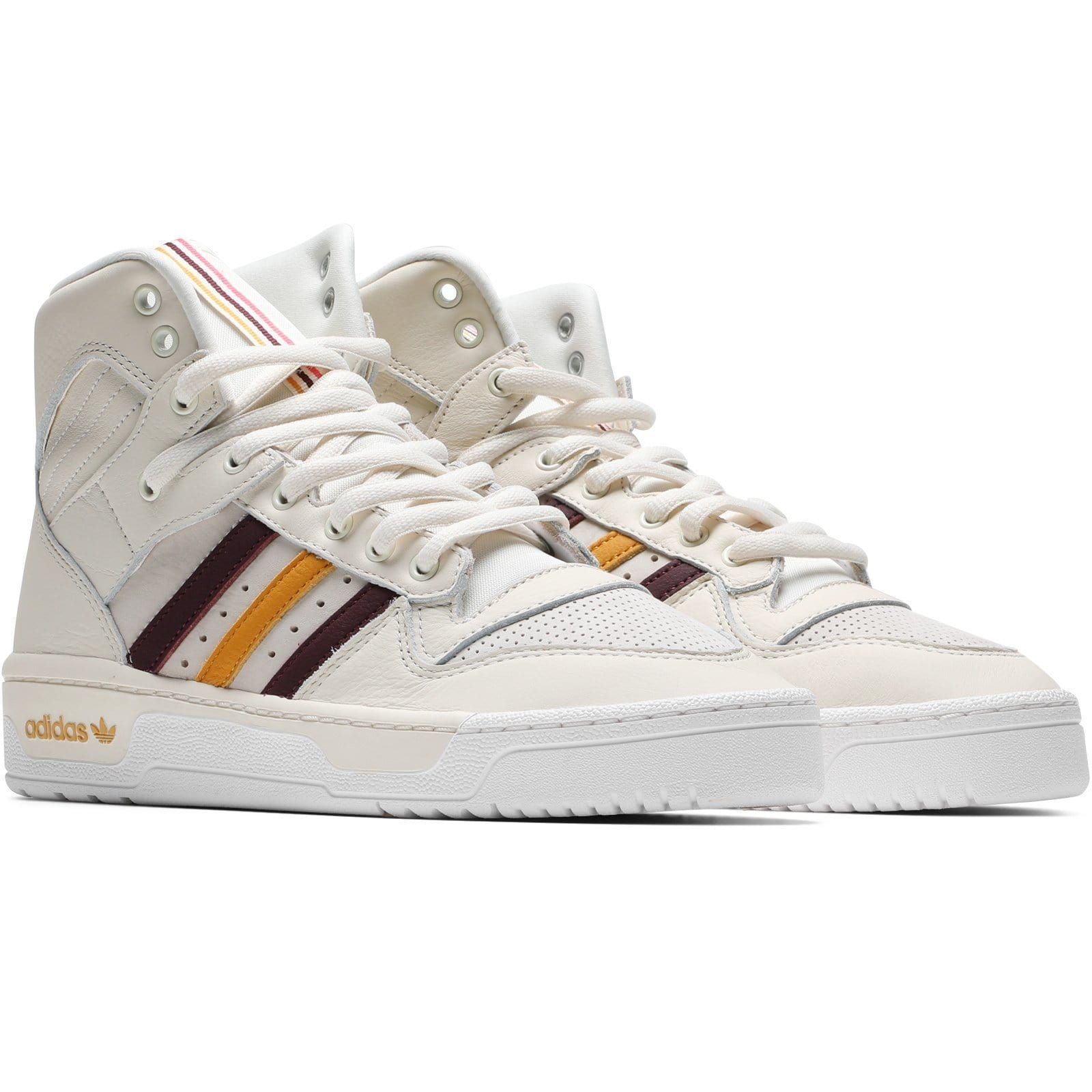 size 40 fed48 3107d Adidas x Eric Emanuel RIVALRY HI OG Cream White Maroon Customized