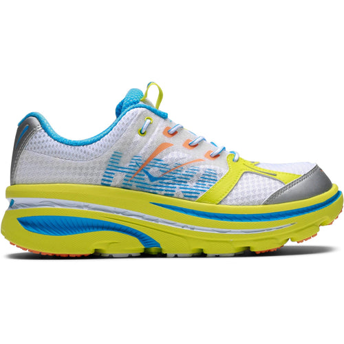 Hoka One One BONDI B White/Citrus Blue