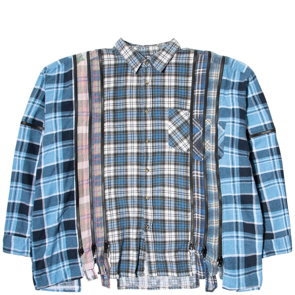 Needles Shirts ASSORTED / O/S 7 CUTS ZIPPED WIDE FLANNEL SHIRT SS21 10