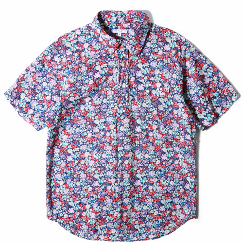 Engineered Garments POPOVER BD SHIRT NAVY/RED/LT.BLUE FLORAL LAWN