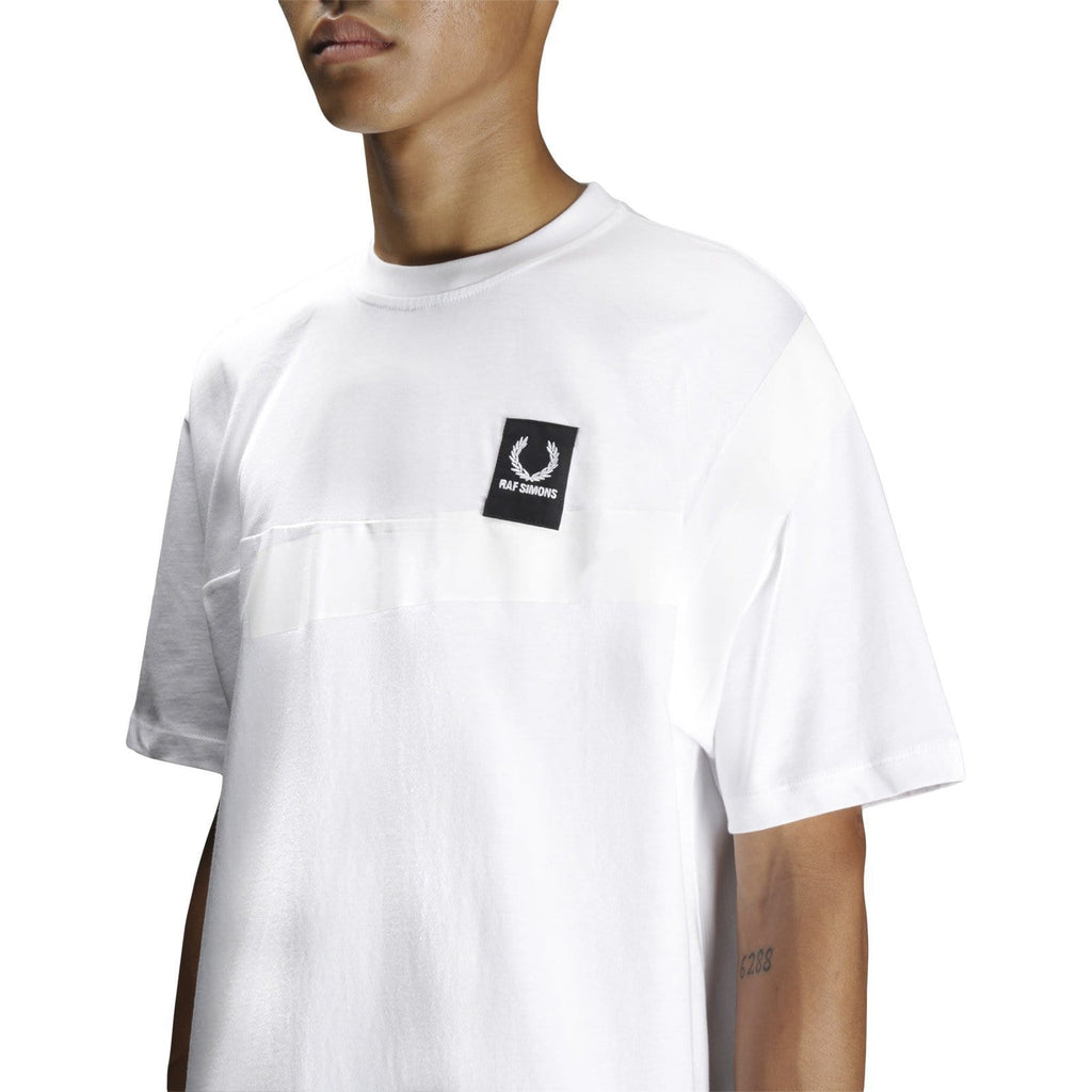 Fred Perry x Raf Simons TAPE DETAIL T SHIRT White