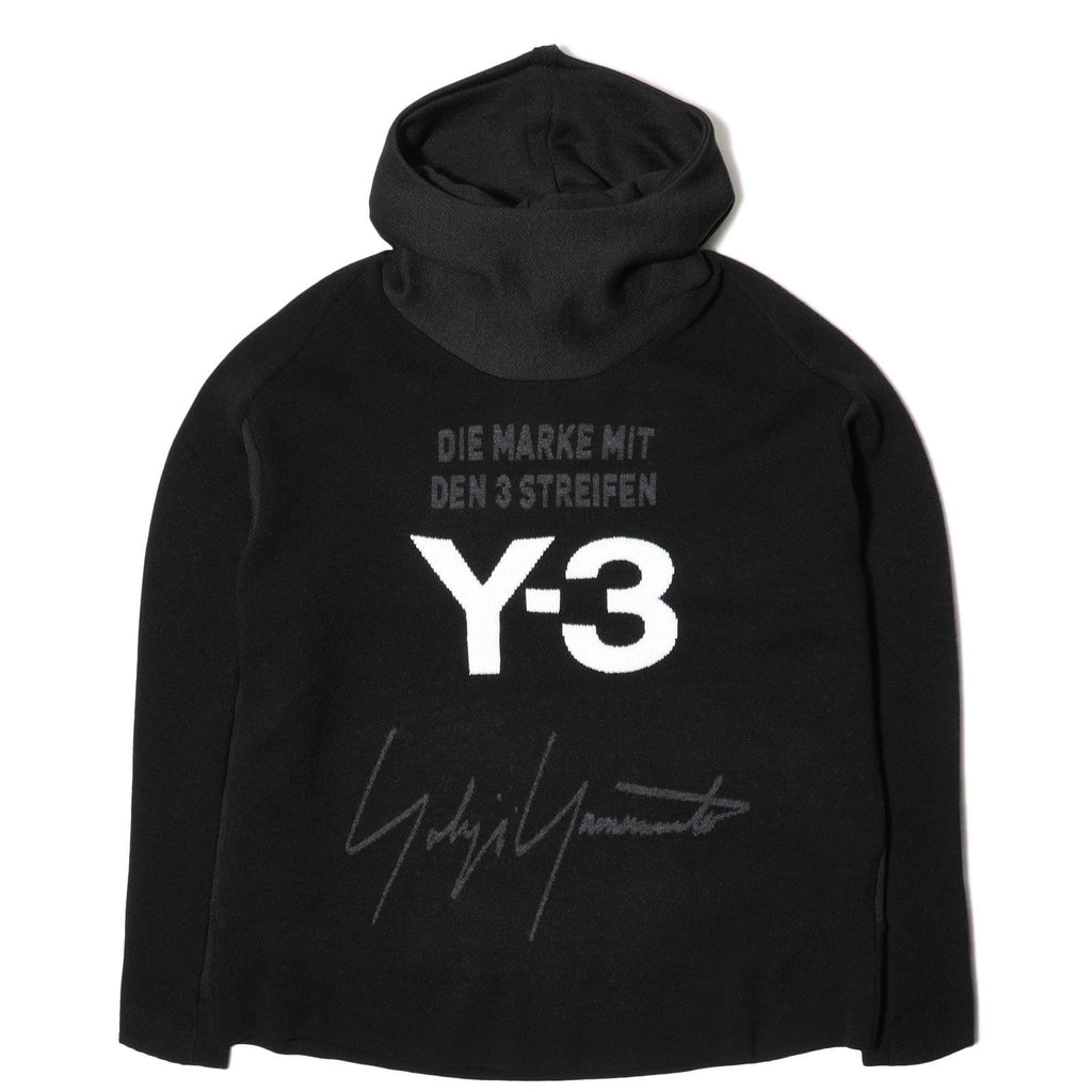 Adidas Y-3 U KNITTED STACKED LOGO HOODIE Black/Core White