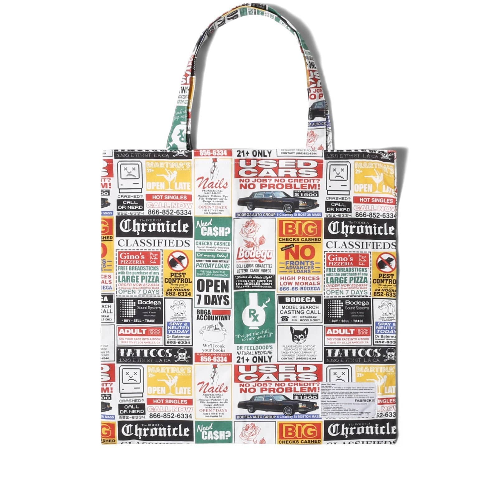 Bodega Innersect F@BRICK CANVAS TOTE All Over Print