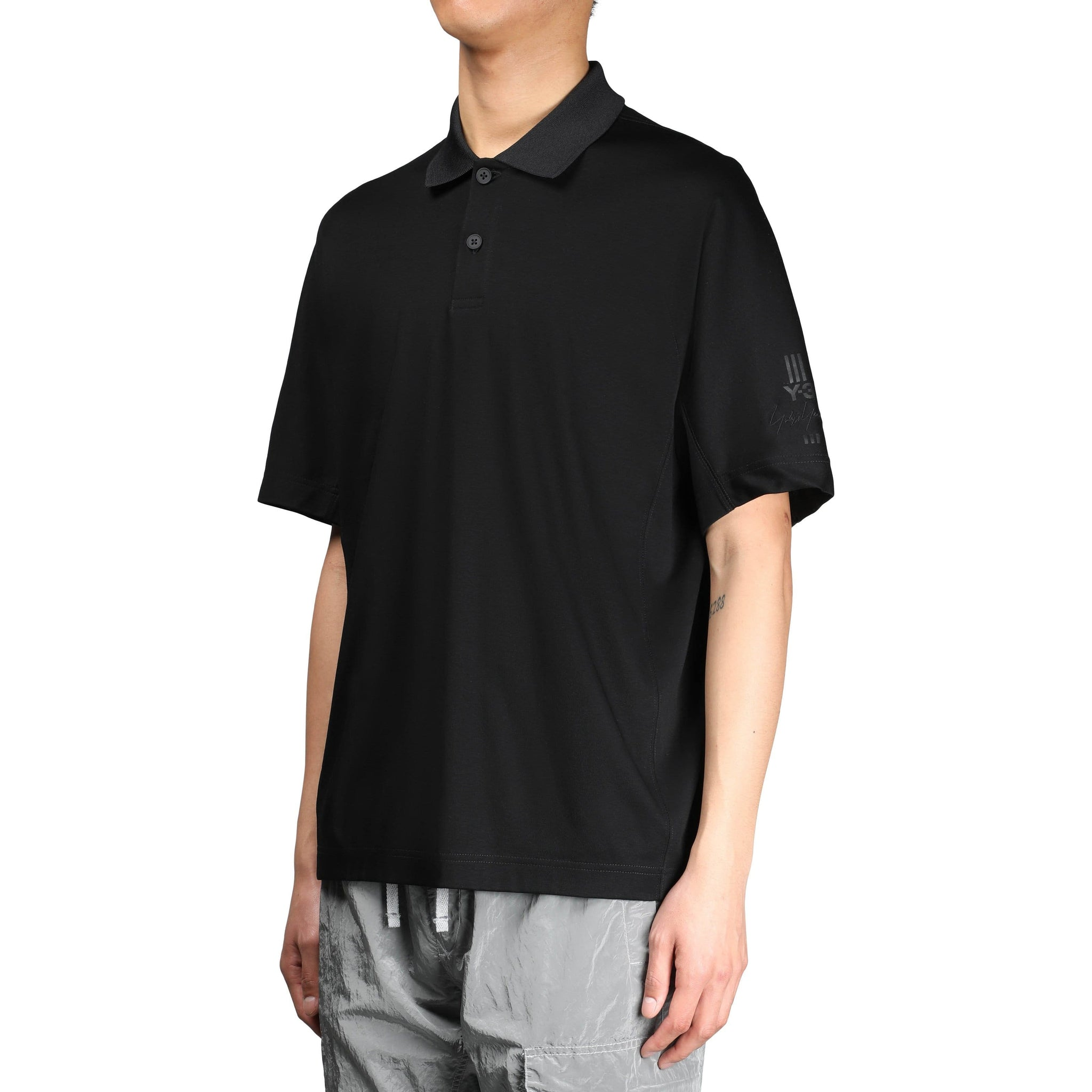 57723501 Y-3 NEW CLASSIC POLO SHIRT Black – Bodega