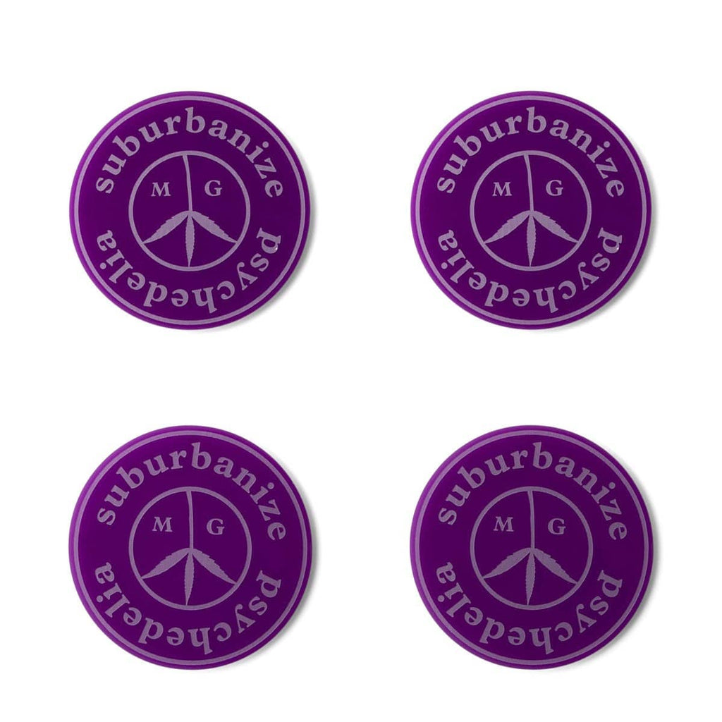 Mister Green Bags & Accessories PURPLE / O/S SUBURBANIZE PSYCHEDELIA BONG COASTER (SET OF FOUR)