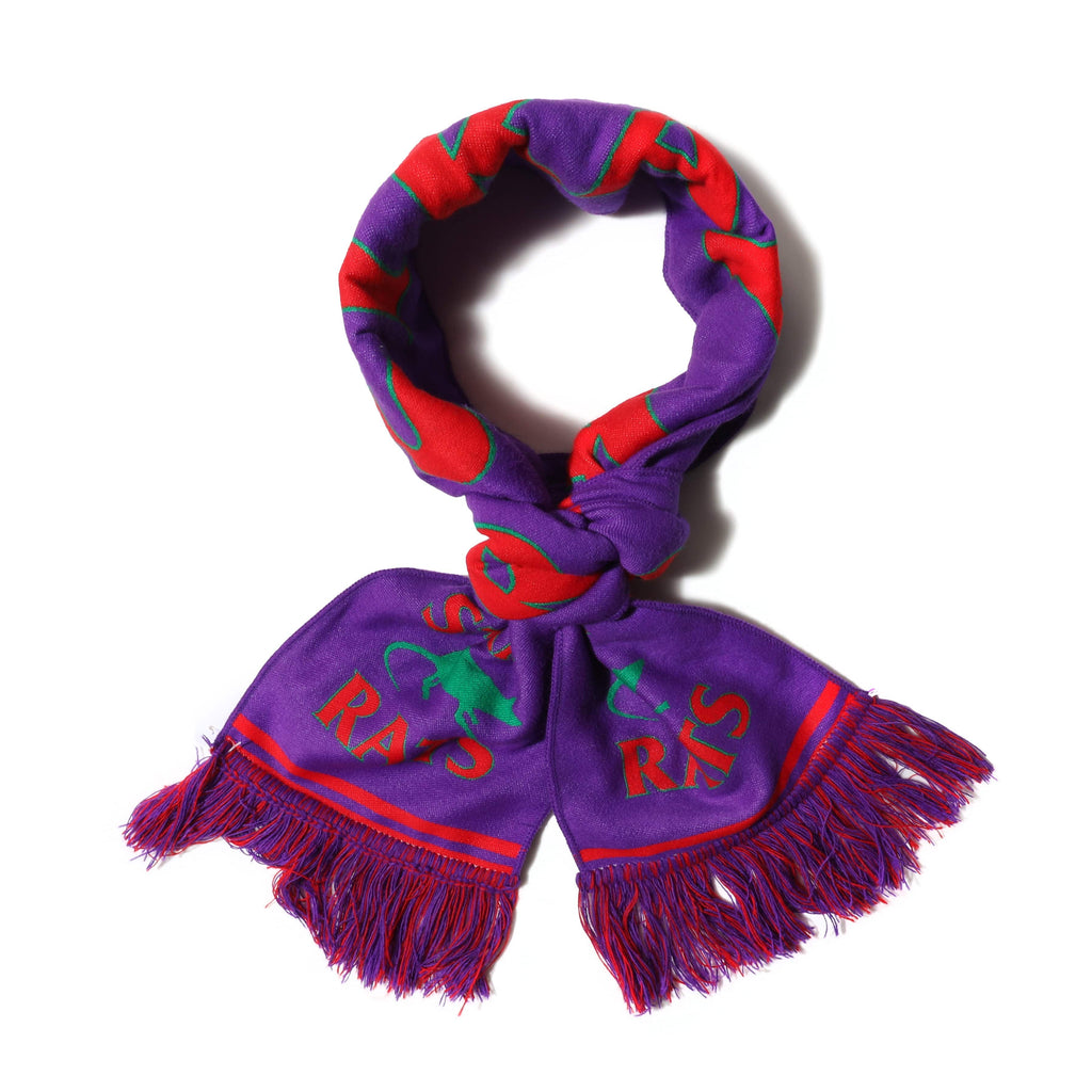 Stray Rats Knit Scarf Purple/Red
