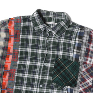 Needles Shirts ASSORTED / O/S FLANNEL SHIRT - WIDE 7 CUTS SHIRT 4