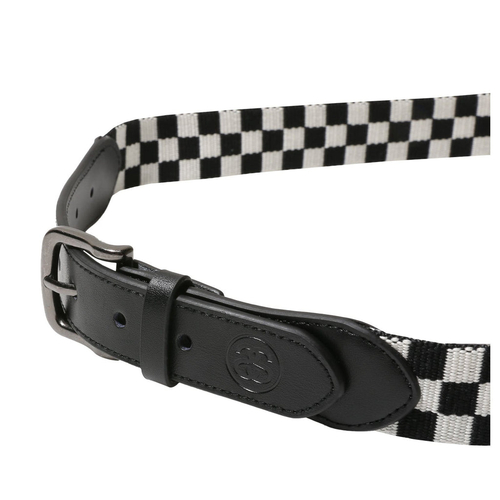 Stussy CHECKER BELT Black