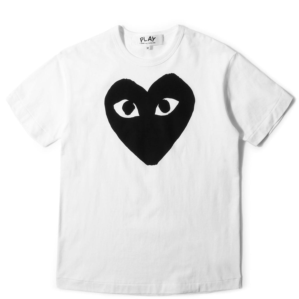 Comme des Garcons PLAY T-SHIRT (White/Black)