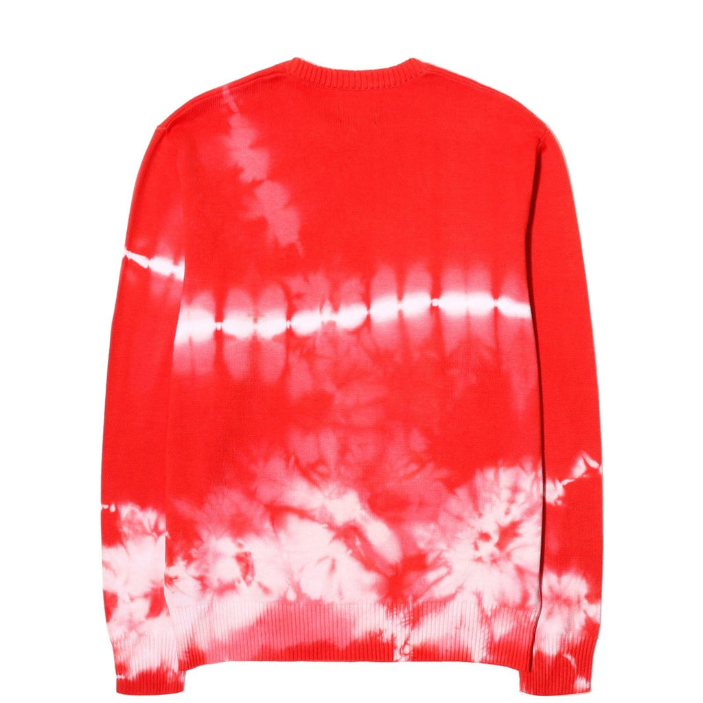 Stussy BLEACHED DYE SWEATER Red