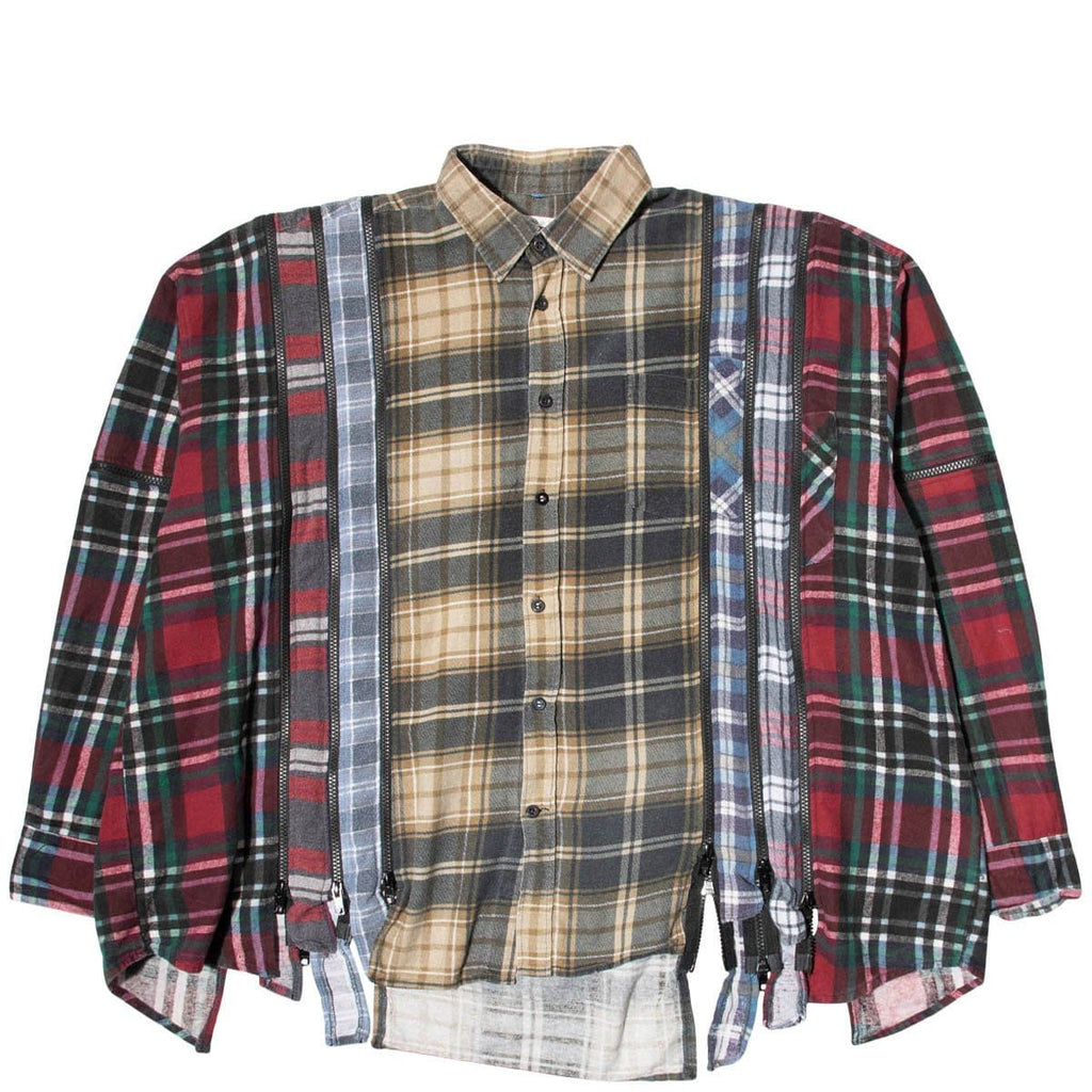 Needles Shirts ASSORTED / O/S 7 CUTS ZIPPED WIDE FLANNEL SHIRT SS21 4