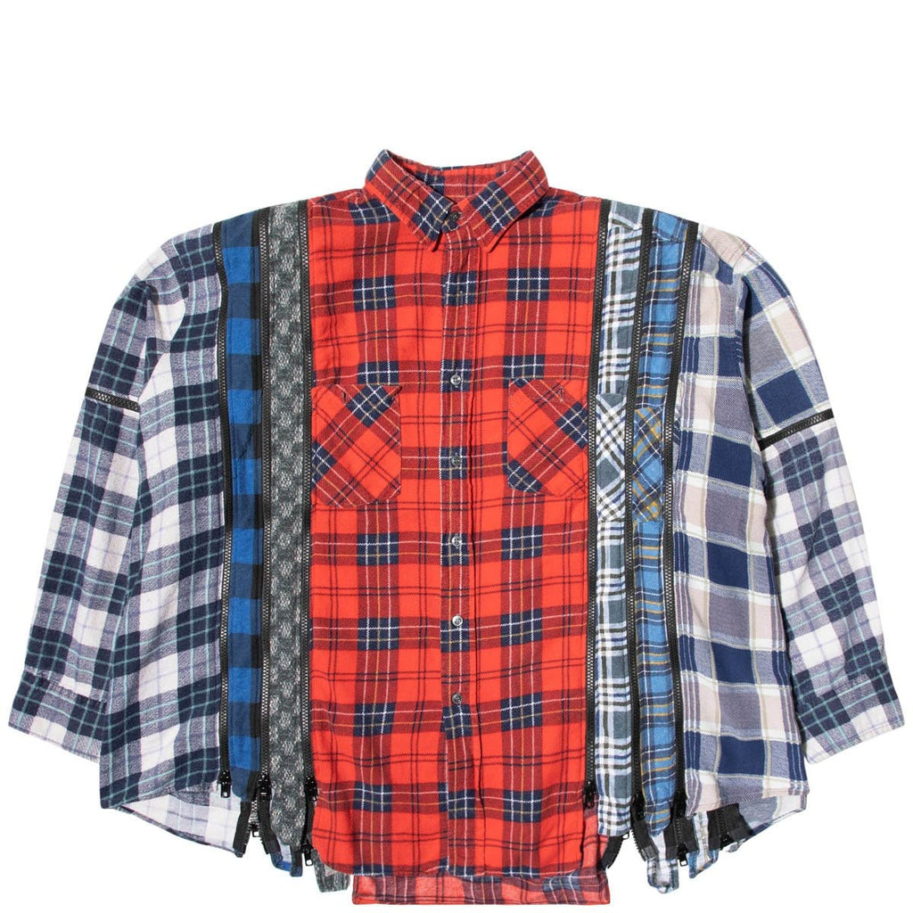 Needles Shirts ASSORTED / O/S 7 CUTS ZIPPED WIDE FLANNEL SHIRT SS21 9