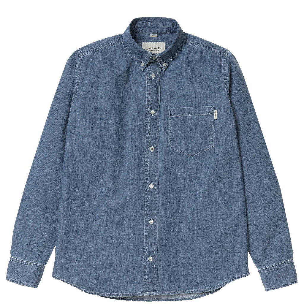 Carhartt W.I.P. L/S CIVIL SHIRT Blue