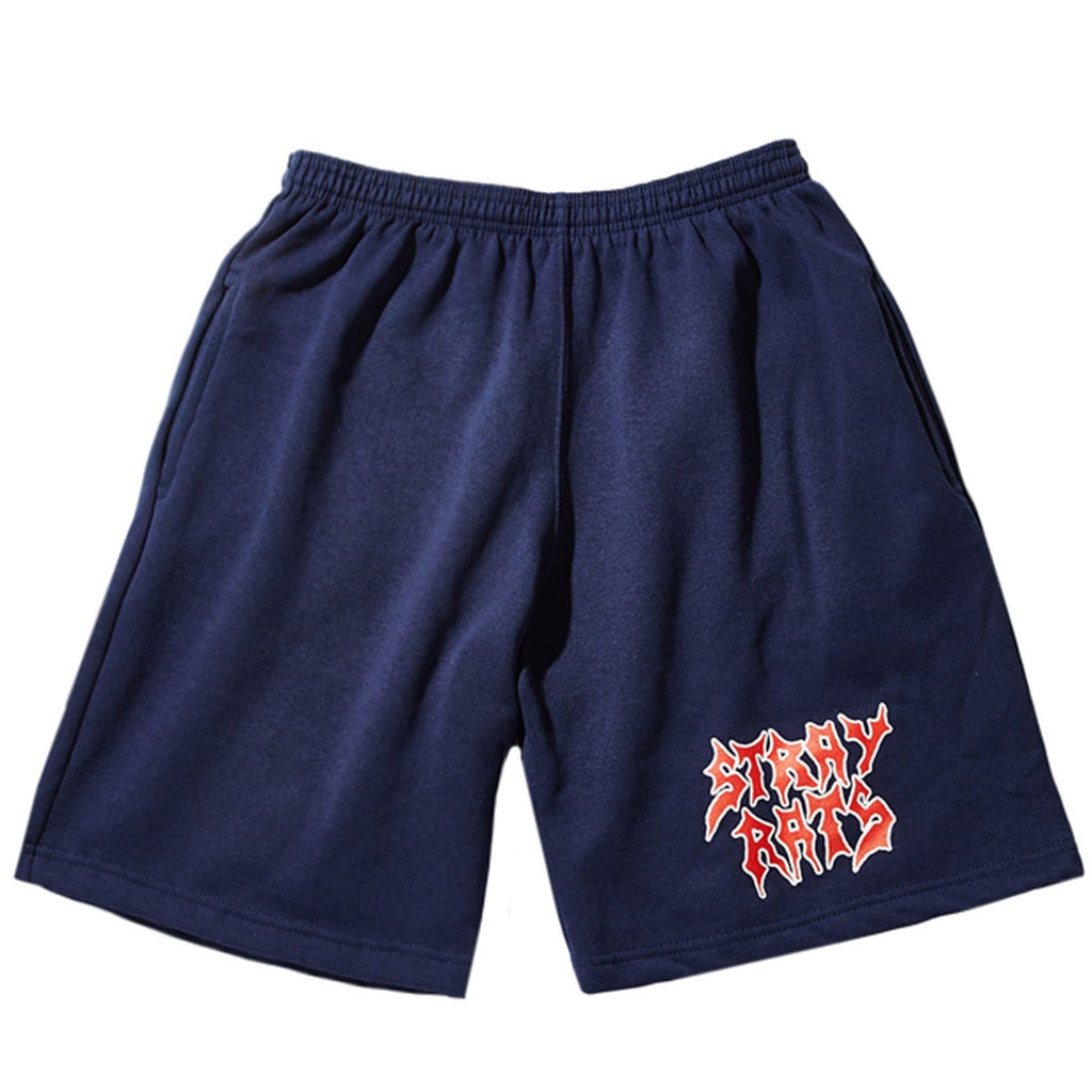 Stray Rats GRIM SWEAT SHORT Blue