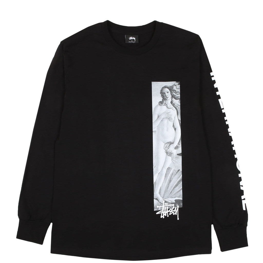 Stussy BIRTH OF VENUS LS TEE Black