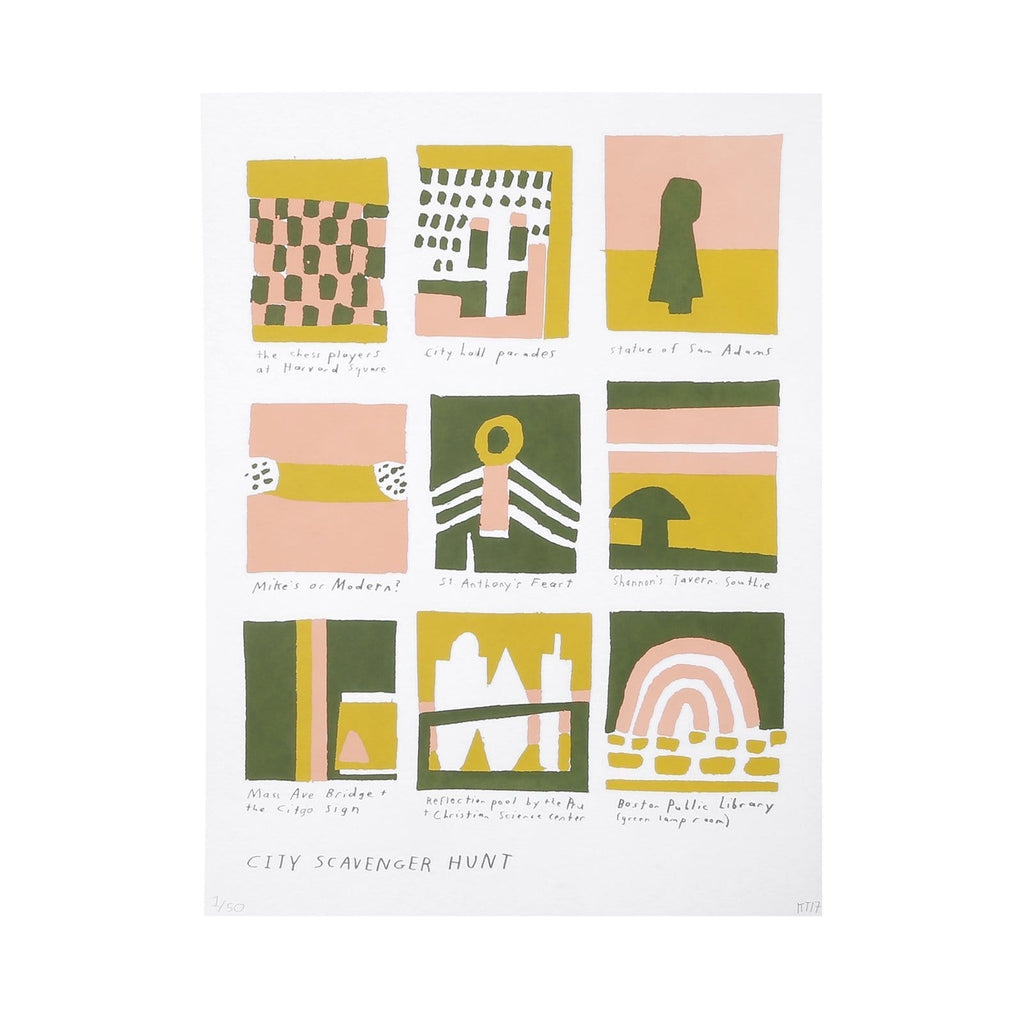Kristin Texeira Screenprint  for Boston Art Book Fair