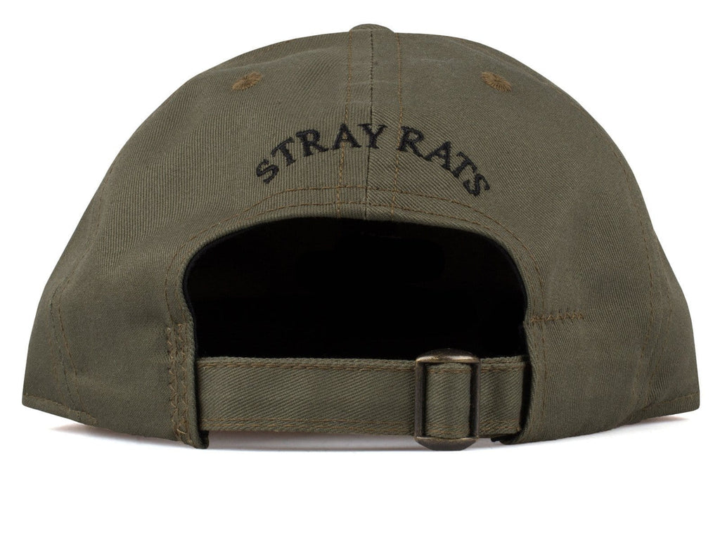Stray Rats 6 PANEL LOGO HAT Olive