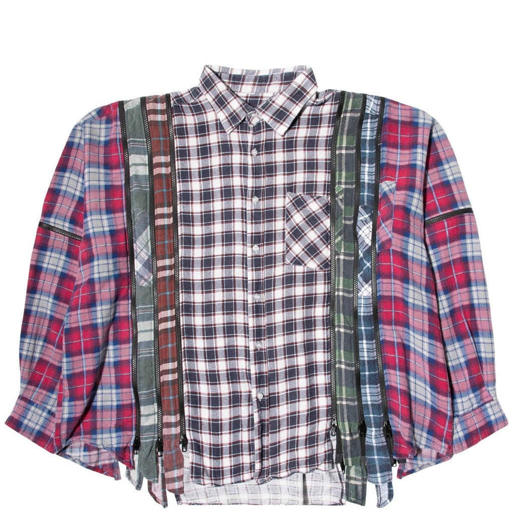 Needles Shirts ASSORTED / O/S 7 CUTS ZIPPED WIDE FLANNEL SHIRT SS21 17