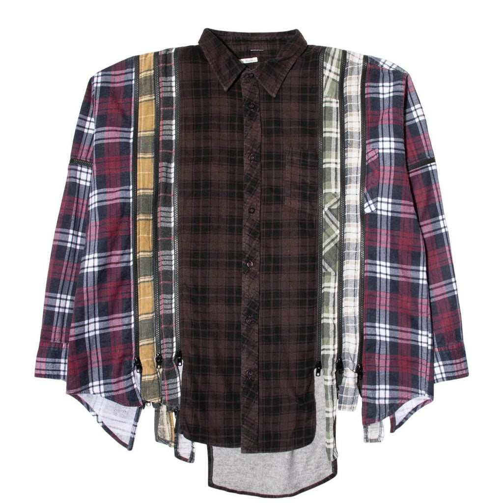 Needles Shirts ASSORTED / O/S 7 CUTS ZIPPED WIDE FLANNEL SHIRT SS21 1