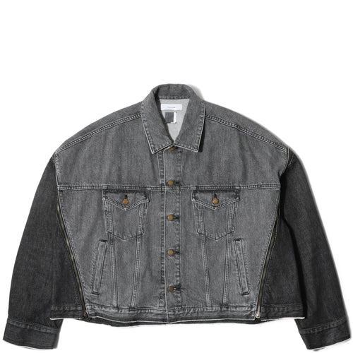 Facetasm ZIPPER DENIM JACKET Black