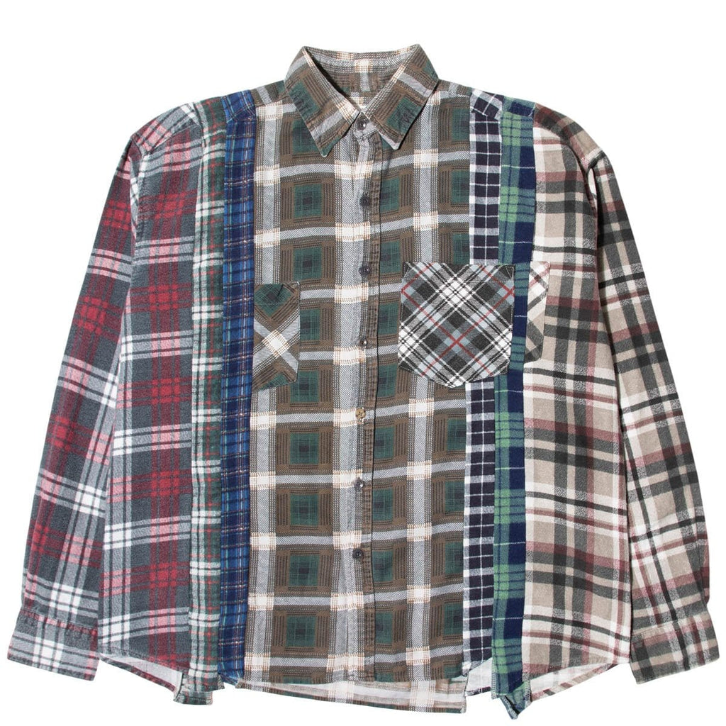 Needles Shirts ASSORTED / L 7 CUTS FLANNEL SHIRT SS21 21