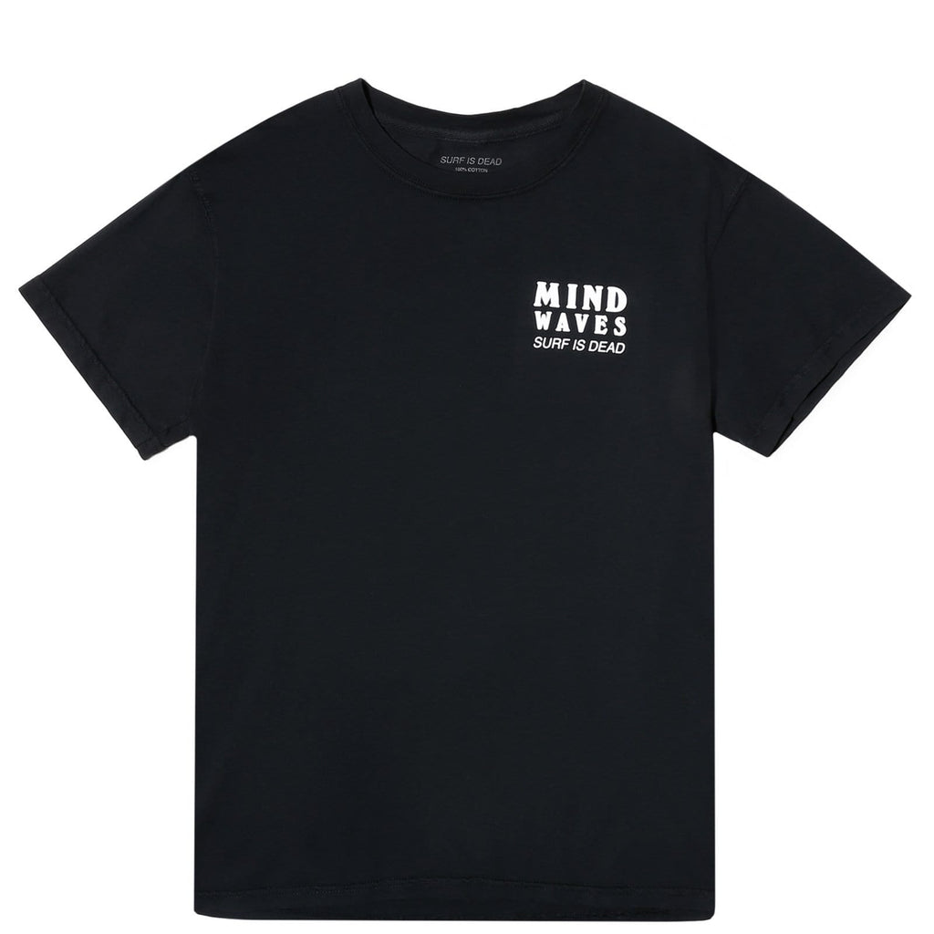 Surf Is Dead MIND WAVES TEE Black