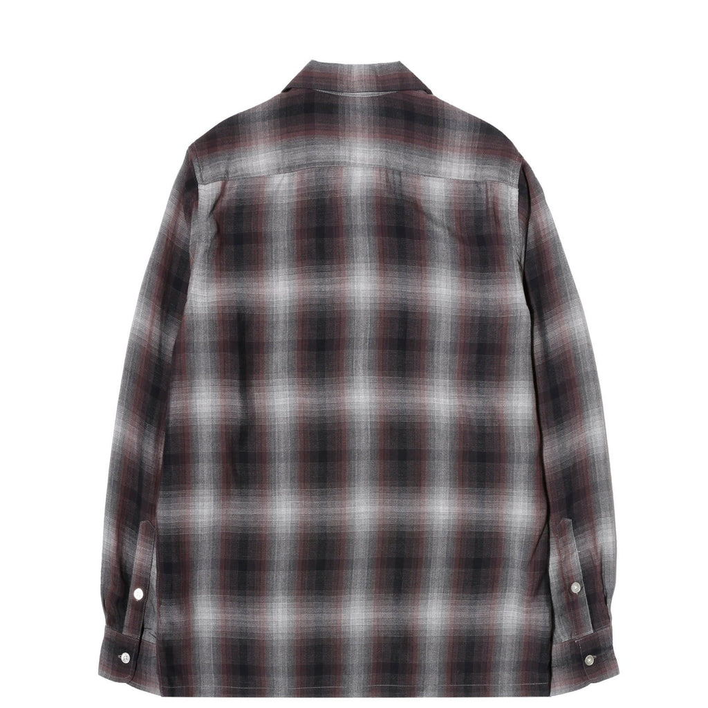 Wacko Maria OMBRAY CHECK OPEN COLLAR SHIRT ( TYPE-2 ) Purple/Black